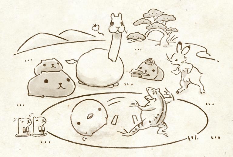 スライドバナー鳥獣戯画