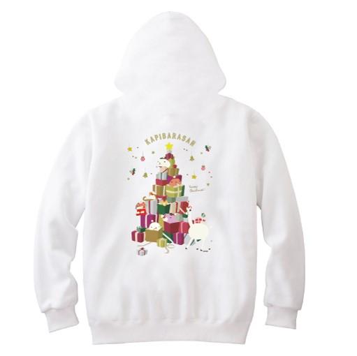 カピバラさんクリスマスジップパーカー