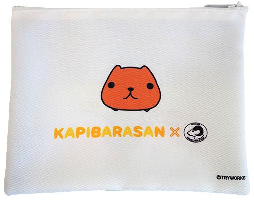 【金沢動物園限定】ファスナーポーチ まねっこ動物 カピバラさん